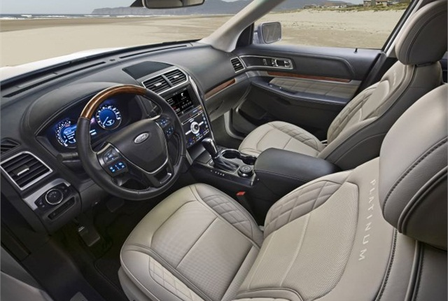 Photo of 2016 Explorer cabin courtesy of Ford.