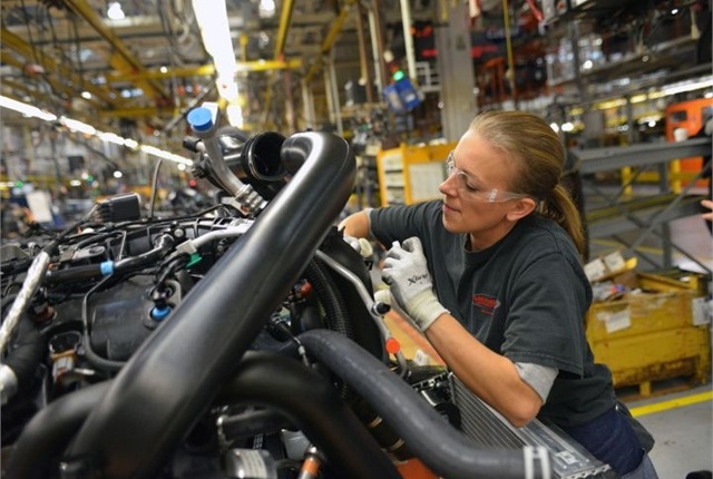 Photo of F-150 production courtesy of Ford.