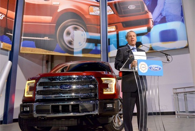 Joe Hinrichs, Ford's president of the Americas, announced that Ford is adding 850 more jobs in Dearborn. Photo courtesy of Ford.