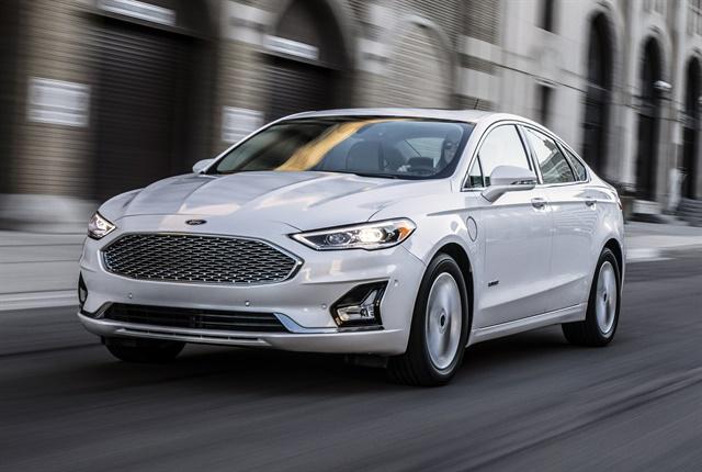 Photo of 2019 Fusion mid-size sedan courtesy of Ford.