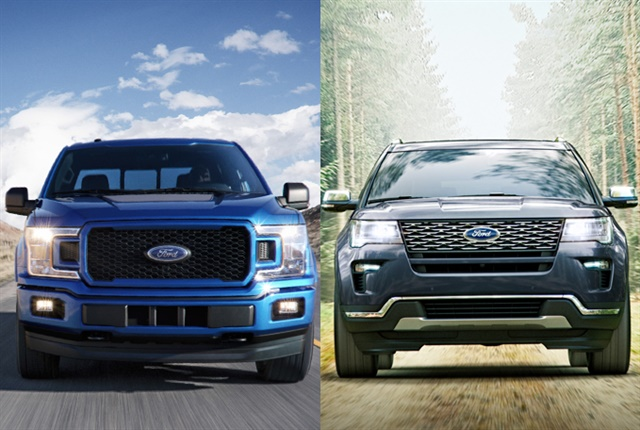 Ford plans to offer hybrid versions of its F-150 and Explorer by 2020. Photo courtesy of Ford.