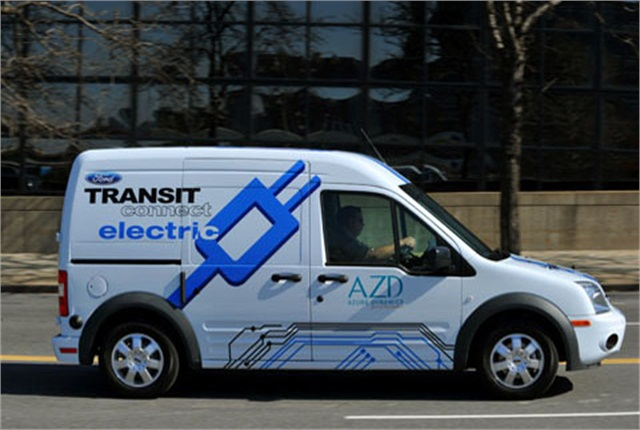 Uk company launches ford transit connect e van repair for Ford motor company truck division