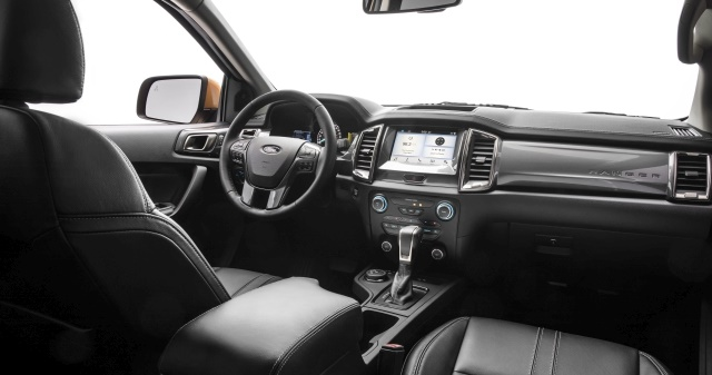 Photo of 2019 Ford Ranger interior courtesy of Ford Motor Co.