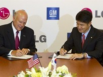 GM and LG to Jointly Develop Electric Vehicles