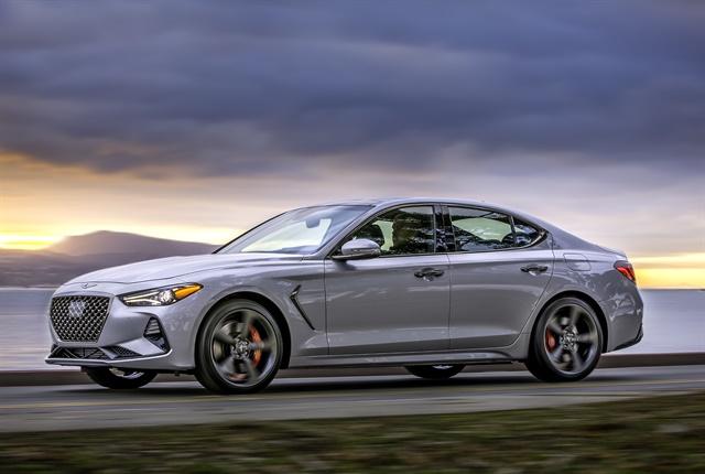 Photo of 2019 G70 entry luxury sedan courtesy of Genesis.