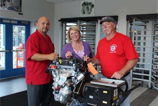 Photo of mileston 1.4-liter engine courtesy of GM.