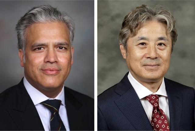 Haq (left) and Kosaka