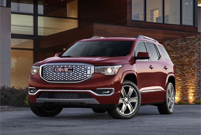 Photo of 2017 GMC Arcadia Denali courtesy of GM.