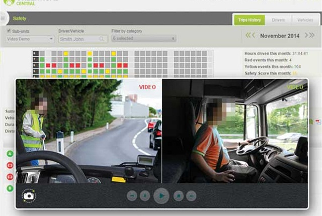 GreenRoad's in-vehicle video system. Image courtesy of GreenRoad.