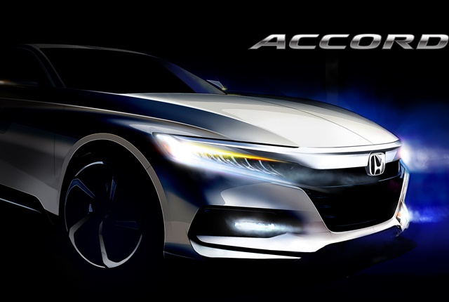 Sketch of the 2018 Accord courtesy of Honda.