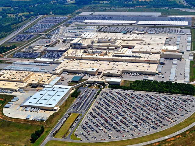 Aerial photo of HMA's Lincoln, Ala. plant courtesy of Honda.