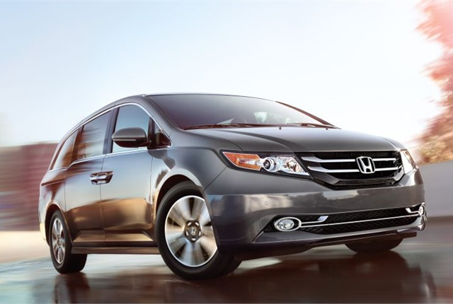 Photo od 2016 Odyssey courtesy of Honda.