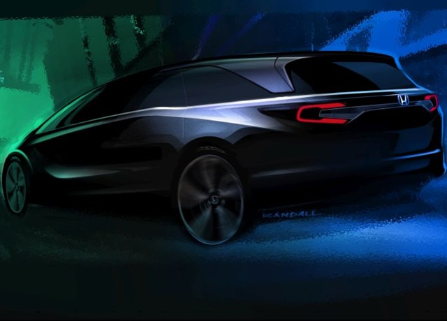 Sketch of the 2018 Odyssey courtesy of Honda.