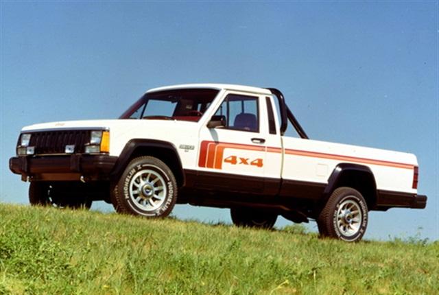 Photo of 1986 Jeep Comanche courtesy of FCA.