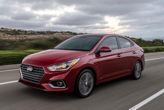 Photo of the 2018 Accent courtesy of Hyundai.