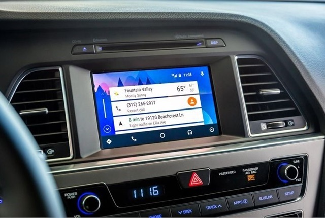 Photo of Android Auto interface courtesy of Hyundai.
