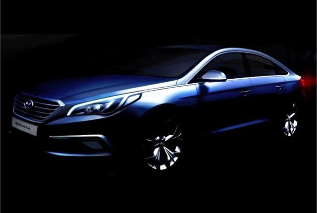 Rendering of 2015 Sonata courtesy of Hyundai.