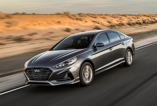 Photo of 2018 Sonata courtesy of Hyundai.