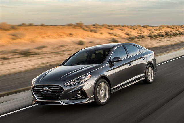 Photo of 2018 Sonata courtesy of Hyundai.