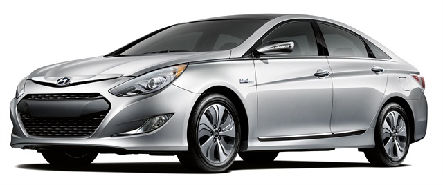 The 2013 Hyundai Sonata Hybrid.