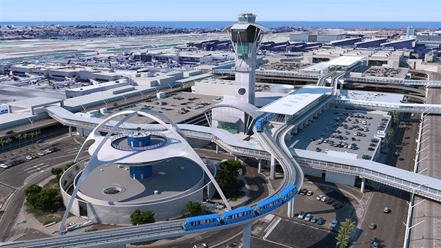 A rendering of the automated people mover at LAX. Photo courtesy of Los Angeles World Airports.