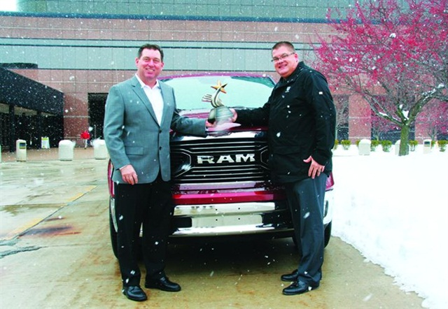 Photo of Bob Hegbloom (left) and Robert Brown, courtesy of Nick Cappa, Ram Truck.