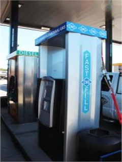 Love's is opening more  CNG fueling stations like this one in Willis, Texas. Courtesy of Love's Travel Stops.