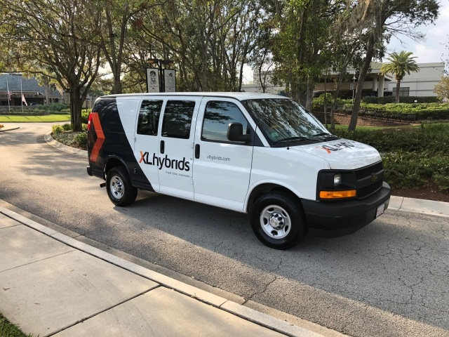 Fleet's can now order and take delivery of XLH-upfitted Chevrolet and GMC vans (pictured) starting with 6.0L models. (Image courtesy of XL Hybrids)