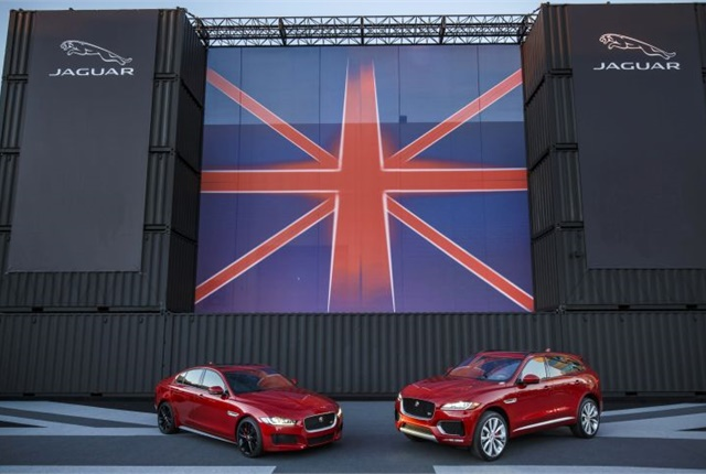 Photo of 2017 XE (left) and F-Pace courtesy of Jaguar.