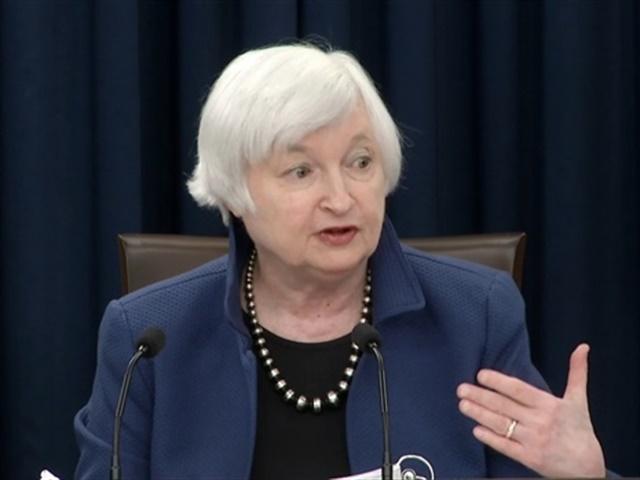 Screenshot of Fed Chair Janet Yellen via YouTube.