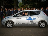 Autonomous Nissan LEAF Takes Japan's Prime Minister for a Spin
