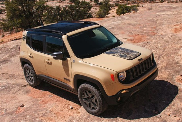 Photo of 2017 Jeep Renegade Deserthawk courtesy of FCA.