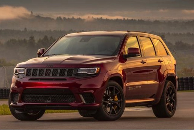 Photo of Jeep Grand Cherokee Trackhawk courtesy of FCA.