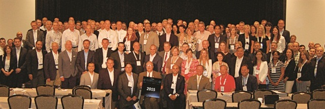 "Attendees of the 2015 Global Fleet Conference in Miami pose for a ""class photo."" The Global Fleet Conference will be returning to Europe in 2016. Photo: Chris Wolski"