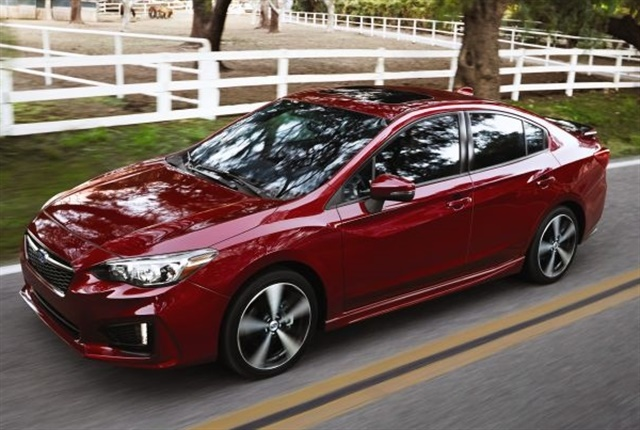Photo of 2017 Impreza courtesy of Subaru.