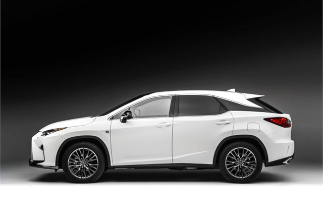 Photo of 2016 RX 350 F Sport courtesy of Lexus.