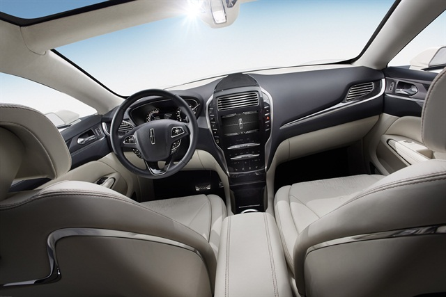 <p>The MKC Concept features premium leather throughout the interior. Photo courtesy Lincoln.</p>