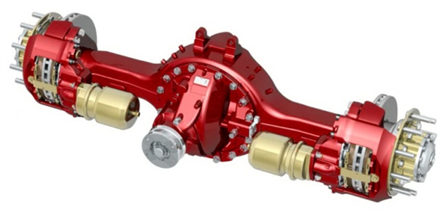 The LogixDrive 17XEVO axle in European trim. It may come to North America in 2015, Meritor says.