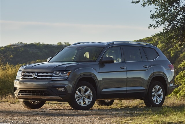 The 2018 Volkswagen Atlas comes equipped with an automatic post collision braking system and built-in safety cage. Photo courtesy of Volkswagen.
