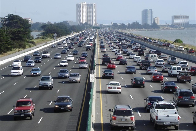 Approximately 97.4 million will travel by car, a 3% year-over-year increase. Photo via Wikimedia/Minesweeper.