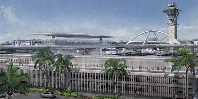 <p><em>Illustration of LAX's Automated People Mover and consolidated Hire car facility. Design courtesy of Los Angeles World Airports.</em></p>