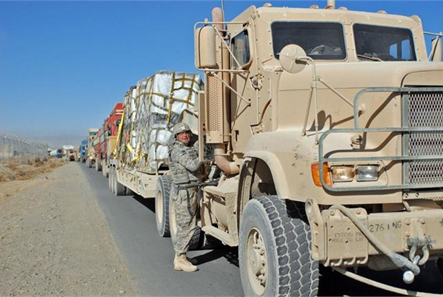 "The Army National Guard's ""Drive the Guard"" program is putting soldiers behind the wheel while they are in uniform and helping them to qualify for fulltime civilian employment as a truck driver."