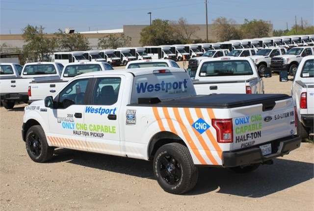 Photo of a CNG-powered Ford F-150 courtesy of Westport.