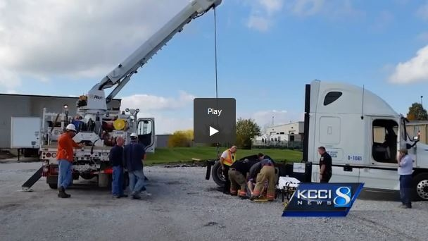 Used Tires Des Moines >> Power Company Rescues Man Trapped Under Semi - Top News ...