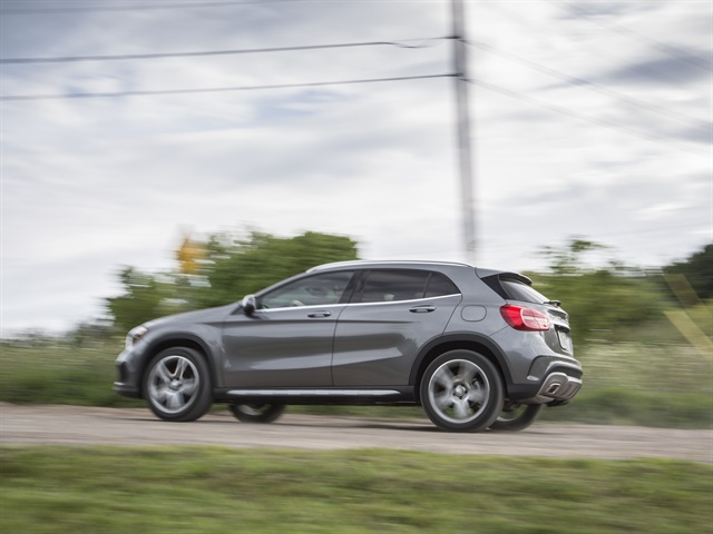 Photo of GLA250 courtesy of MBUSA.