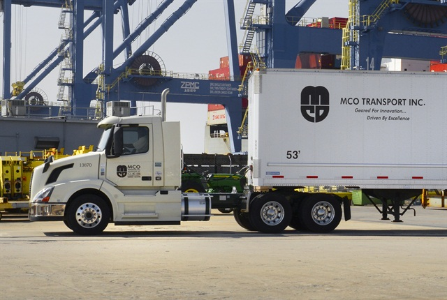 MCO Transport of Wilmington, N.C., received the Volvo Trucks Safety Award in the under 20 million miles category.