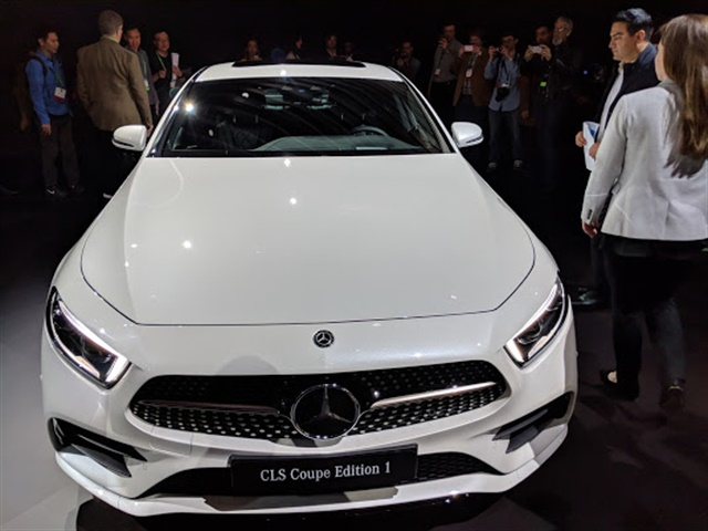 The next-generation 2019 Mercedes-Benz CLS coupe made its debut at the Los Angeles Auto Show. Photo by Eric Gandarilla.