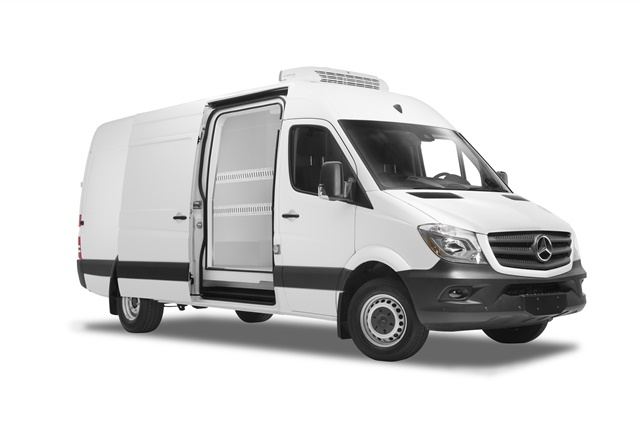 pemMercedes-Benz Sprinter upfitted for refrigerated cargo./em/p