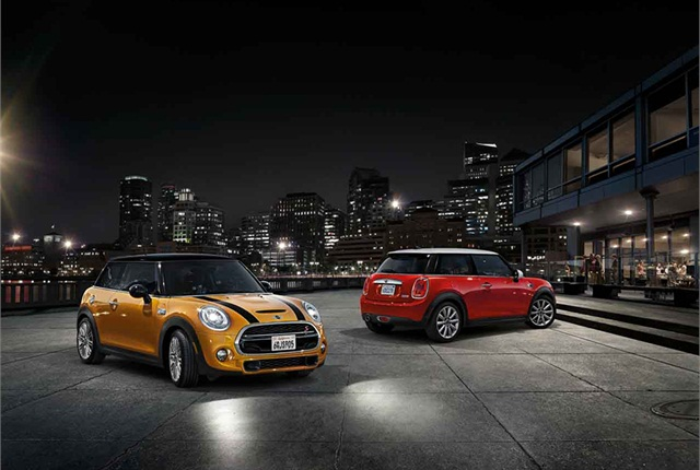 Photo of MINI Cooper Hardtop cars courtesy of BMW.