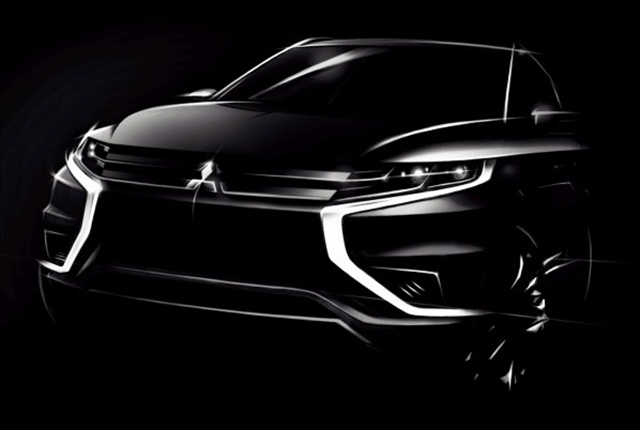 Photo of the Outlander PHEV Concept-S via Mitsubishi.